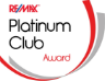 Remax Platinum Club Award Recipient